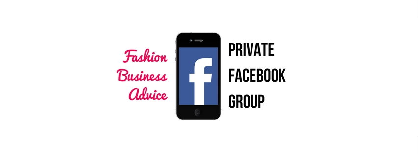 private Facebook group for fashion businesses