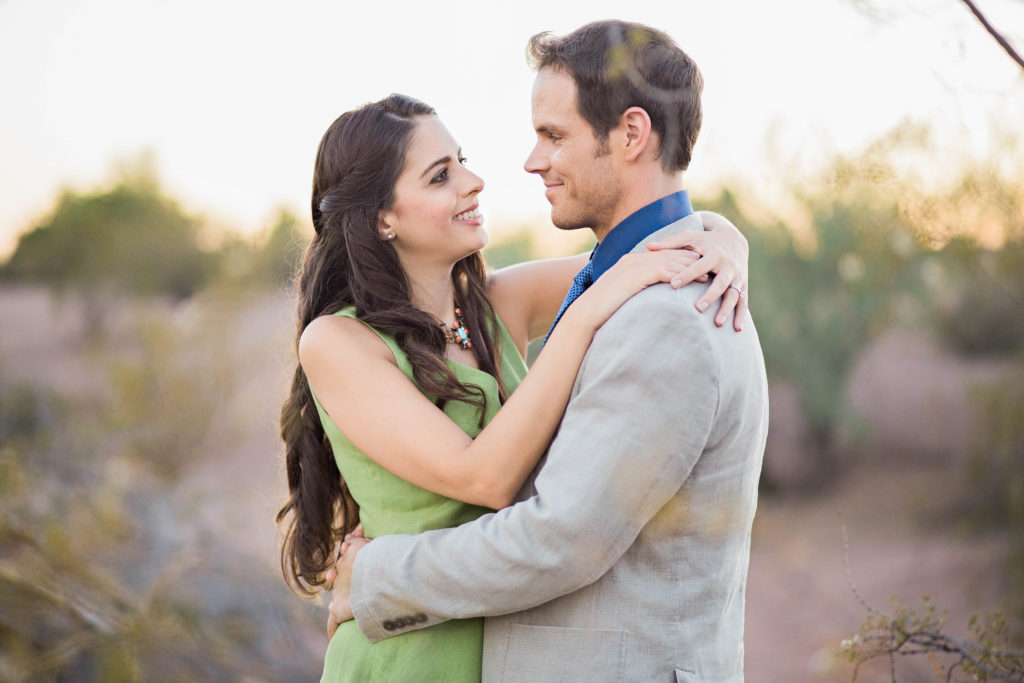 Engagement photo shoot in the desert