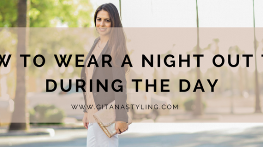 How to Wear a Night Out Top During The Day