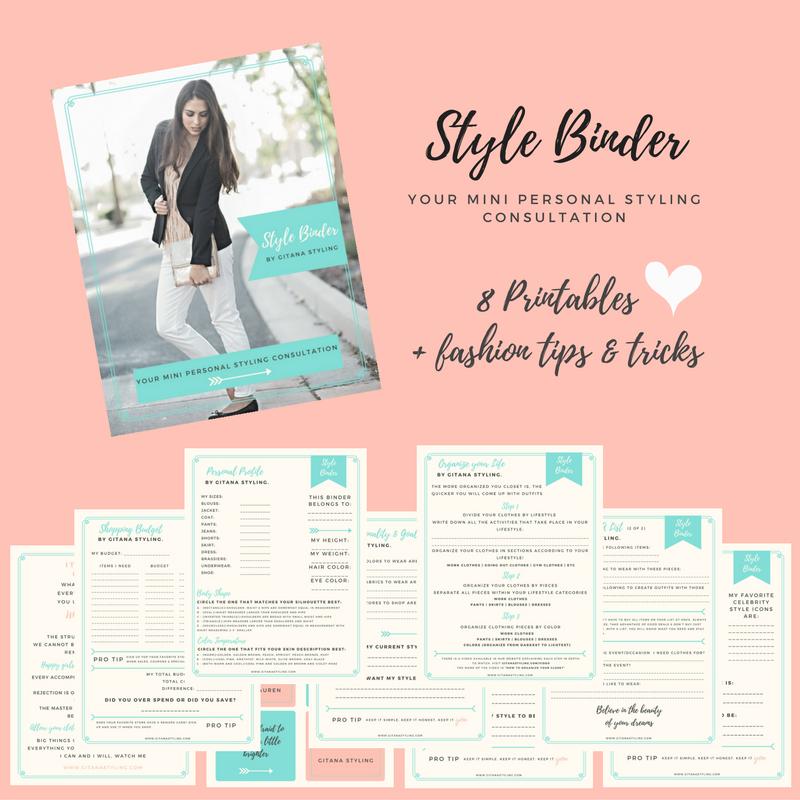 Style Binder by Gitana Styling Etsy shop