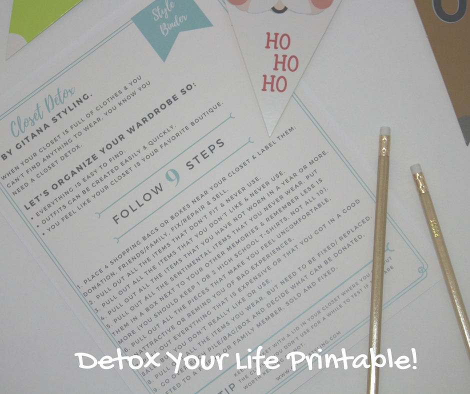 detox your life printable Style Binder