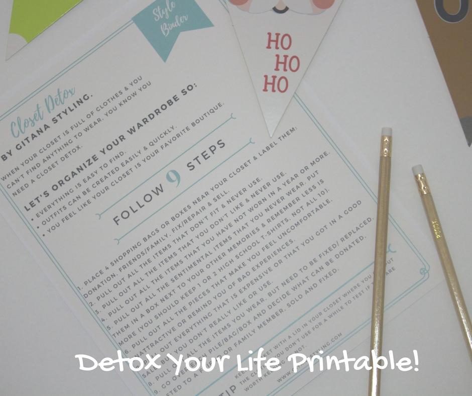 detox your life printable Style Binder