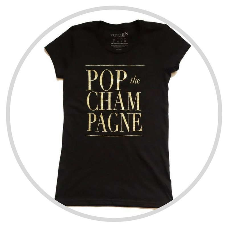 Pop The Champagne Tee at Shazia's Boutique