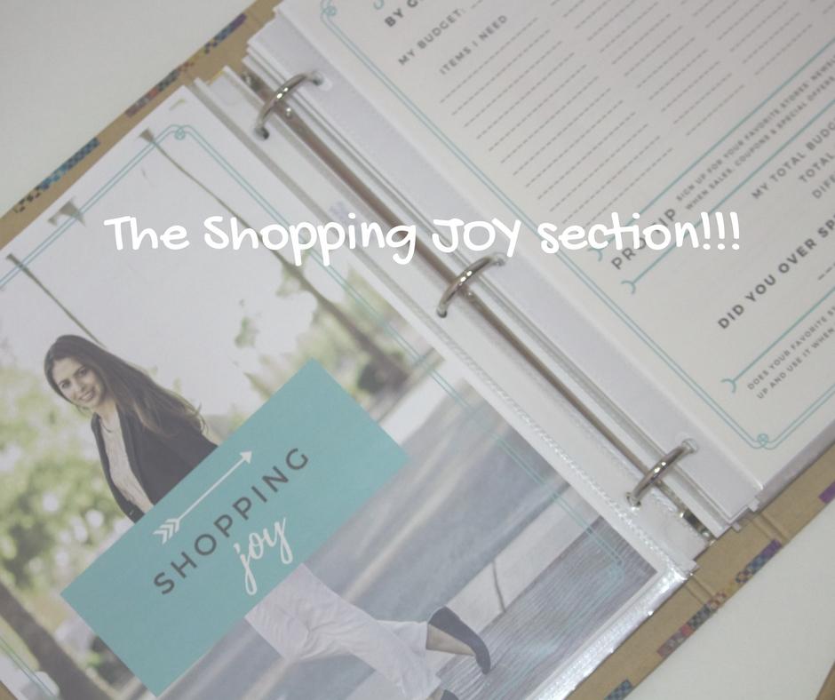 the shopping joy Style Binder