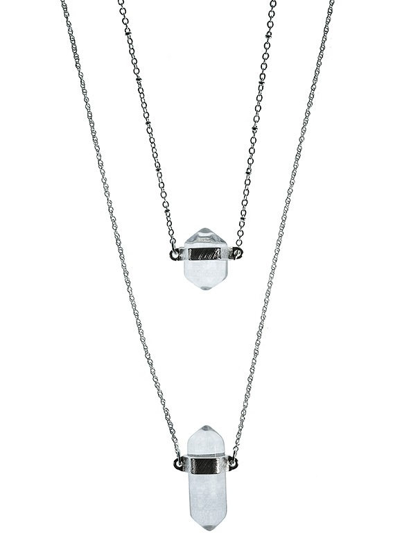 dual Quartz necklace