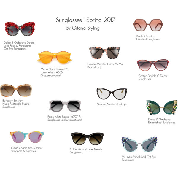 Sunglasses spring 2017