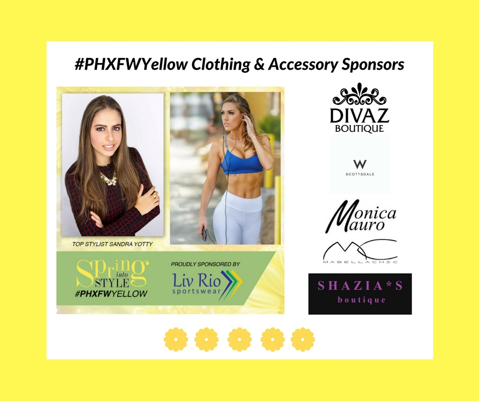 Clothing sponsors yellow show