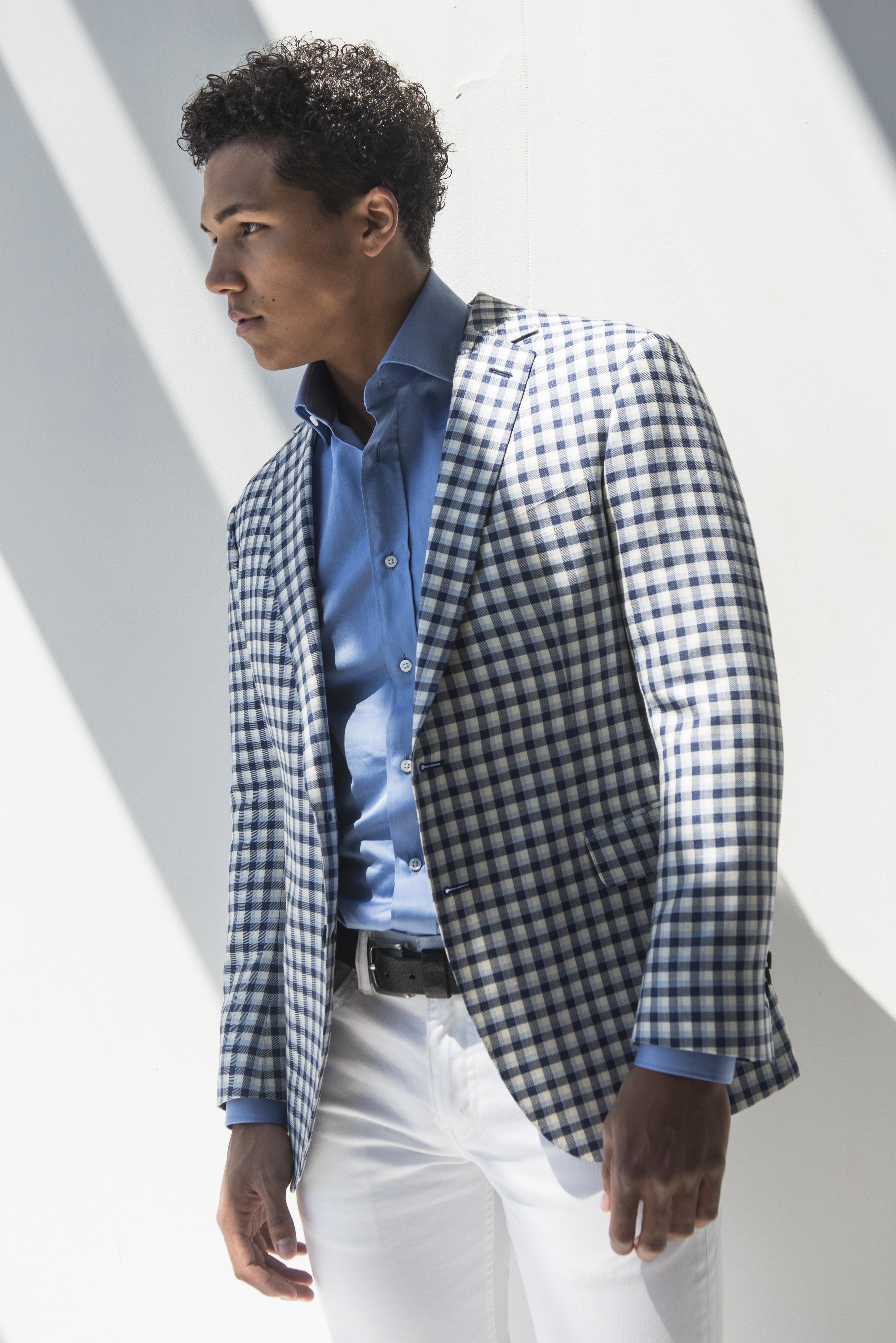 Suit by Glenn Plaid